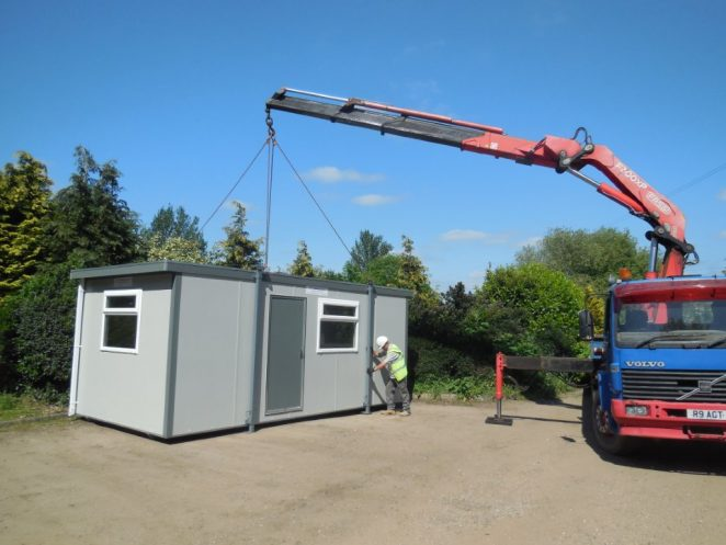 Delivery of portable cabins for hire and sale - Essex