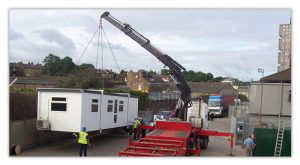UK Delivery for portable offices and storage containers Trading Spaces Essex
