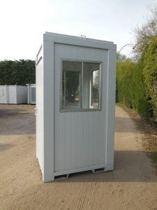 We hire and sell Guardhuts including this 4 x 4 guardhut - Trading Spaces, Essex UK