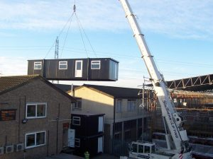 Bespoke triple bespoke portable office units for Tone Scaffolding, Croydon - Trading Spaces, Essex.