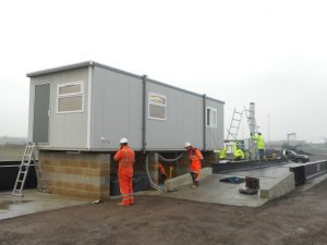 New Portable office supplied to Port of Harwich for Weighbridge