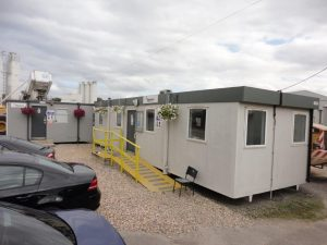 New portable offices supplied to Hanson Concrete, Theale, Nr Reading by Trading Spaces
