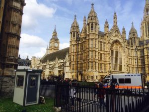 Guard hut supplied to Westminster Abbey by Trading Spaces, Essex