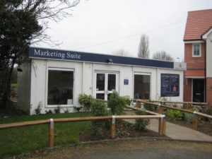 Portable marketing suites and sales offices for property development sites